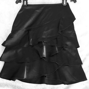 EXPRESS Tiered Black Party Skirt Size 0